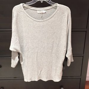 Velvet gray dolman sweater
